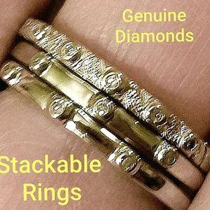 Genuine Diamonds Stackable Rings